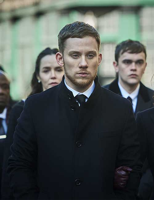 Sean Wallace TV Series Gangs of London Black Wool Coat