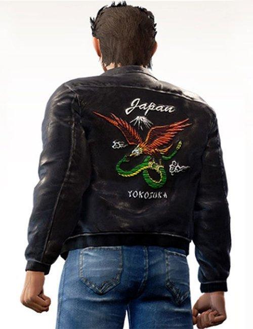 Shenmue 3 Game Backer Bomber Leather Black Jacket