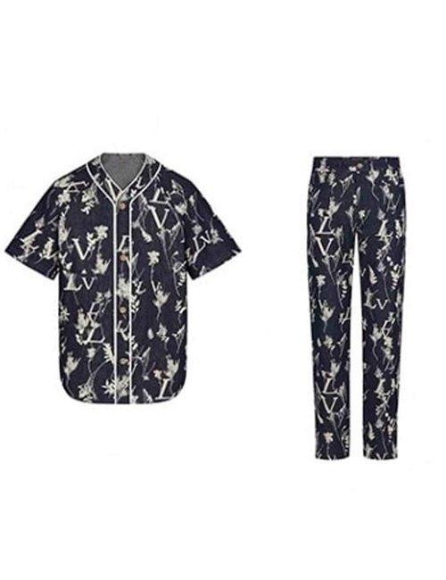 BTS-Suga-Floral--Dynamite-Blue-Cotton-Suit