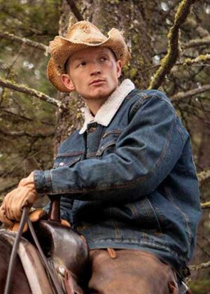 Denim Jacket worn by Jimmy Hurdstrom in Popular TV Series Yelllowstone