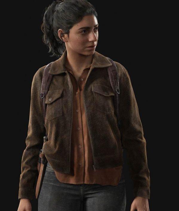 Video Game The Last Of Us Part II Brown Corduroy Dina Jacket