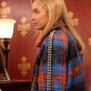 Jodie Comer Killing Eve S03 Plaid Coat