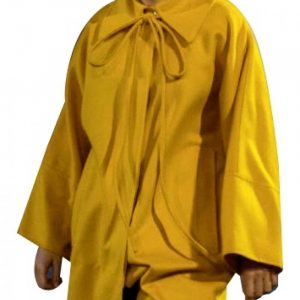 Long Yellow Coat worn by Jodie corner in Killing Eve