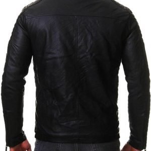 Vintage Cafe Racer Mens Slim Fit Biker Jacket