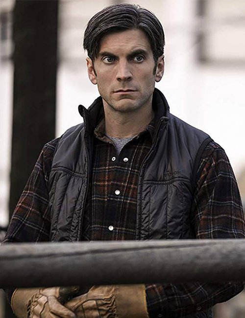 Black Vest worn by Wes Bentley in TV Series Yellowstone