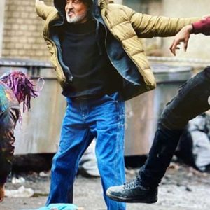 Sylvester Stallone Samaritan Yellow Puffer Jacket
