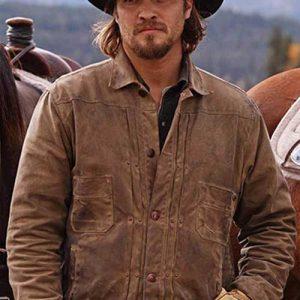 Luke Grimes Yellowstone Brown Kayce Dutton leather Jacket