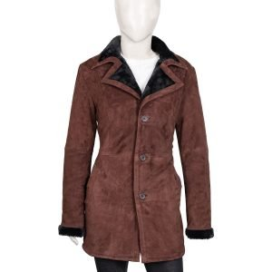 elsey-Asbille-Brown-Shearling-Trench-Coat