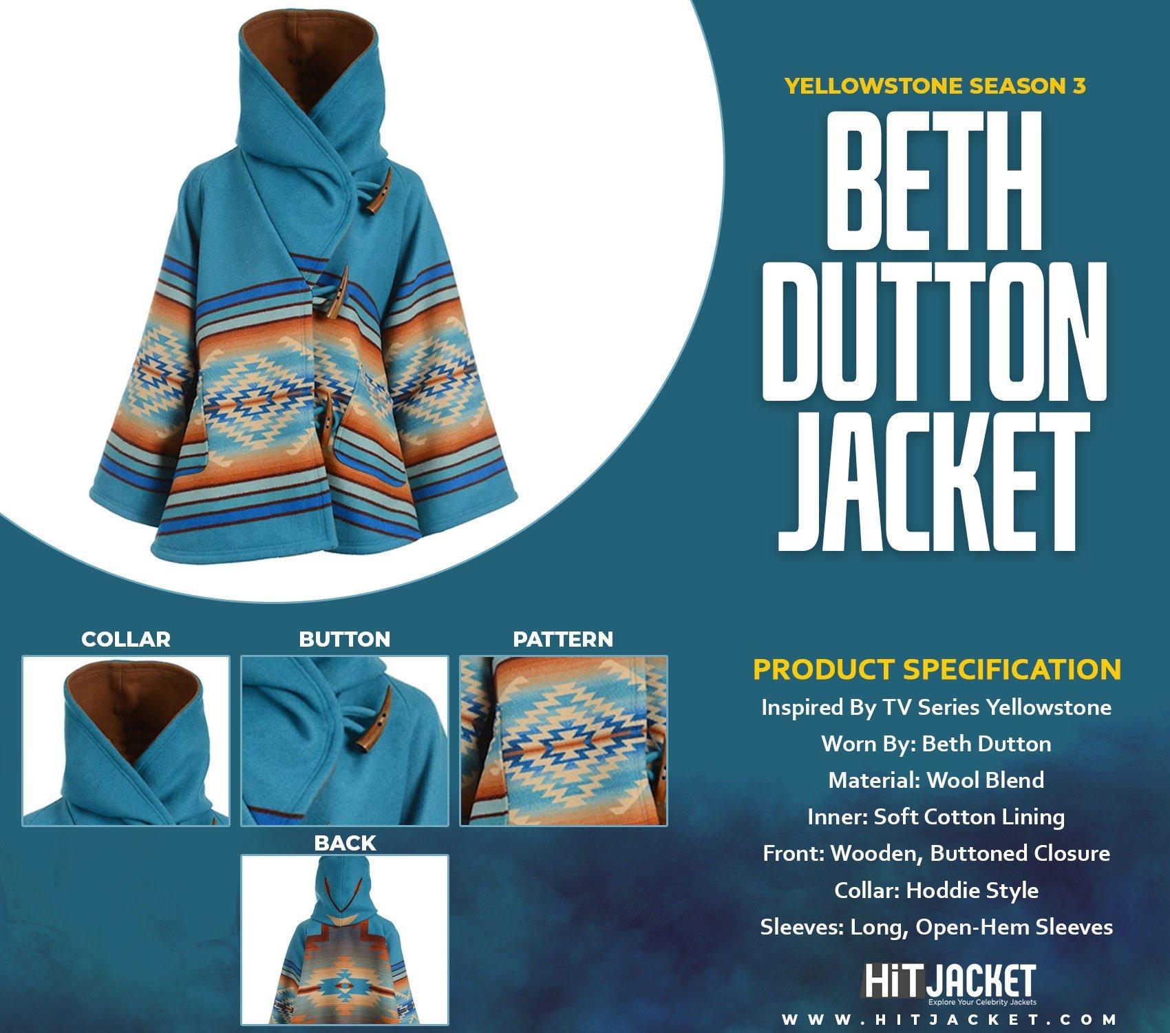 Yellowstone Season 3 Beth Dutton Blue Coat