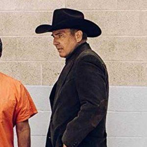 Kevin Costner Yellowstone Series John Dutton Corduroy Blazer