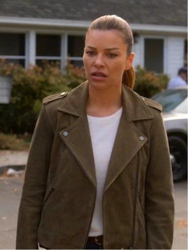 Lucifer S04 Chloe Decker Suede Jacket