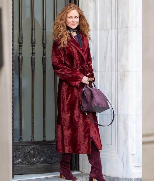 The Undoing Nicole Kidman Maroon Coat