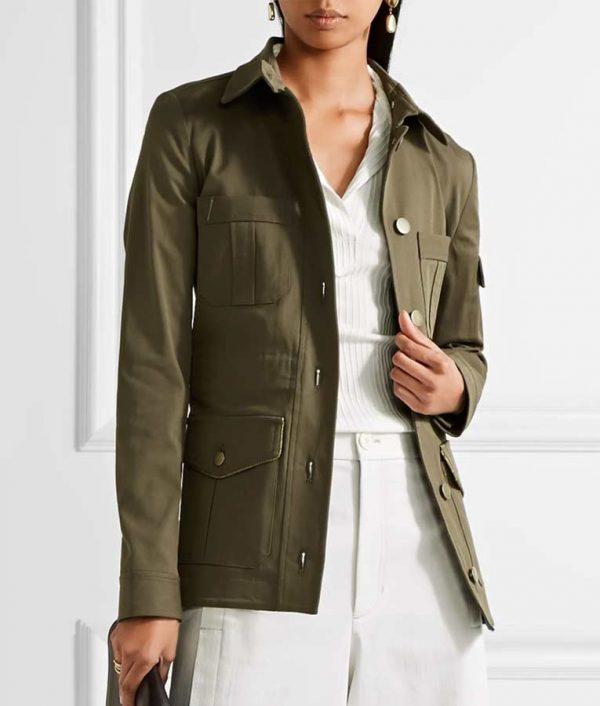 Melania Trump Military Green Jacket