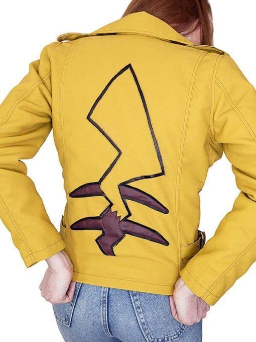 Pikachu Pokemon Yellow Leather Jacket