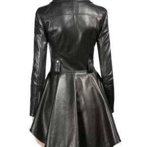 The 100 Season 7 Clarke Griffon Black Leather Jacket