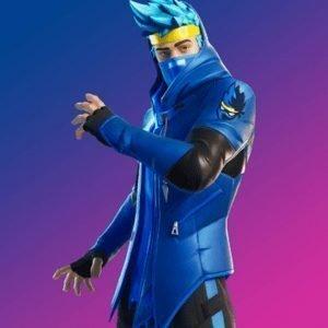 Fortnite Ninja Blue Leather Jacket