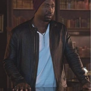 Lucifer Amenadiel D.B. Woodside Biker Leather Jacket