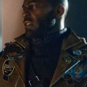 Deathloop Colt Brown Leather Motorcycle Jacket With Patches