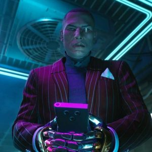 Mr. Goldhand Striped Cyberpunk 2077 Blazer