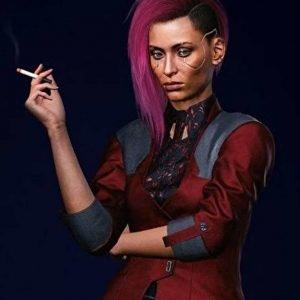 Cyberpunk 2077 V Maroon Female Jacket