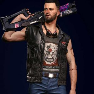 Nomad Game Cyberpunk 2077 V Black Leather Vest