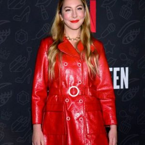 Este Haim Red Leather Coat
