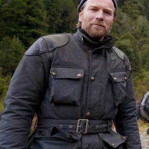 Long Way Up Ewan McGregor Brown Field Jacket