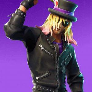 Video Game Fortnite Stage Slayer Black Studded Leather Jacket