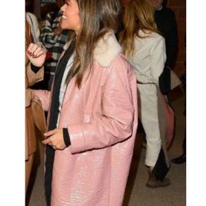 Gina Rodriguez Trench Pink Leather Coat