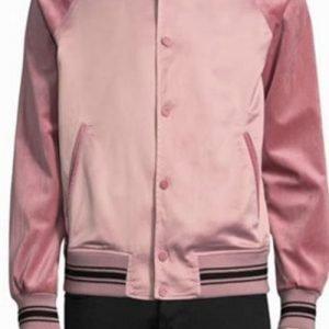 Anthony Anderson TV Series Black-ish Pink Varsity Jacket