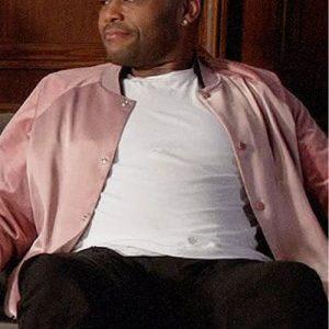 Andre 'Dre' Johnson Black-ish Pink Bomber Jacket