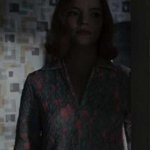 The Queen's Gambit Anya Taylor-Joy Quilted Coat