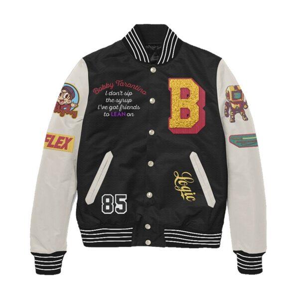 Bobby Tarantino Logic Black and White Letterman Jacket