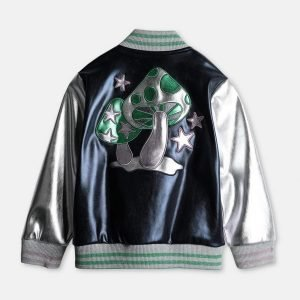 Black-ish Metallic Varsity Jacket Diane Johnson