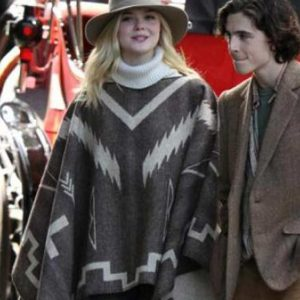 Ashleigh A Rainy Day In New York Elle Fanning Mexican Style Poncho