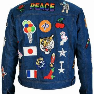 Taron Egerton Rocketman Patches Jacket