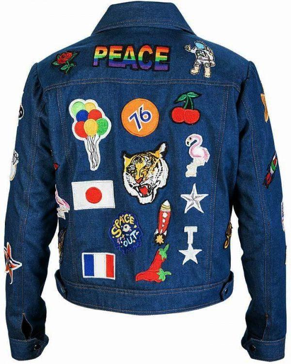 Taron Egerton Rocketman Patches Jacket