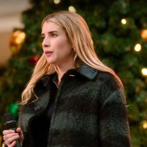 Holidate 2020 Emma Roberts Plaid Sloane Coat