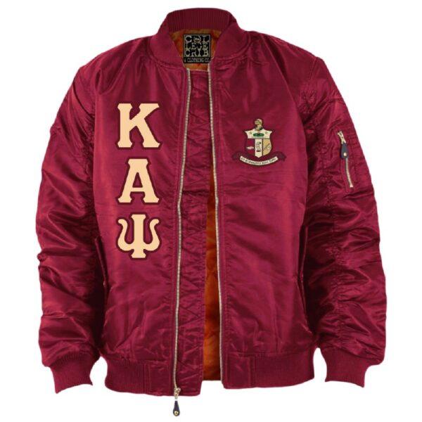 Red Satin Psi Baseball Kappa Alpha Jacket