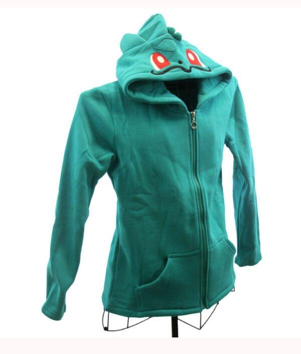 Pokemon Bulbasaur Green Zip up Hoodie