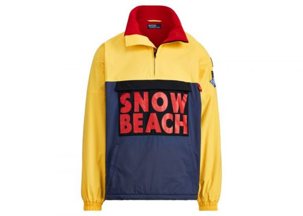 The Hip Hop Snow Beach Yellow and Black Biker Cotton Jacket