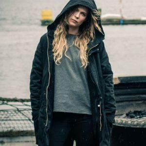 Sofia Karppi Deadwind Pihla Viitala Black Cotton Hooded Coat