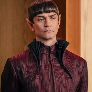 Sarek Gown Style Star Trek Discovery James Frain Maroon Long Coat