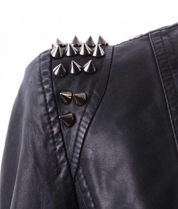 RHOP Season 05 Wendy Osefo Black Studded Leather Jacket