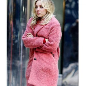 Kaley Cuoco The Flight Attendant Pink Trench Cassie Coat