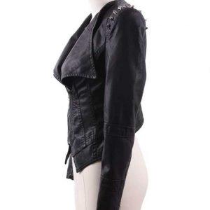 Housewives of Potomac Wendy Osefo Black Studded Leather Jacket