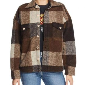 emma robert plaid coat