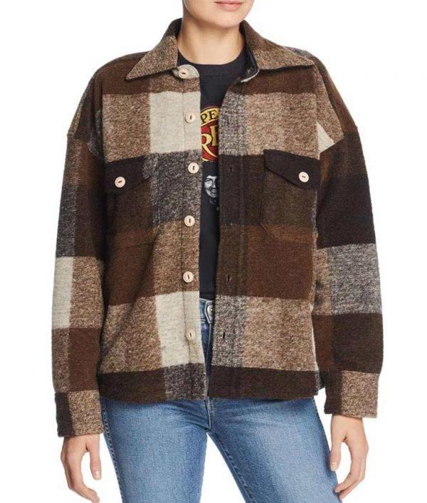 emma robert plaid coat