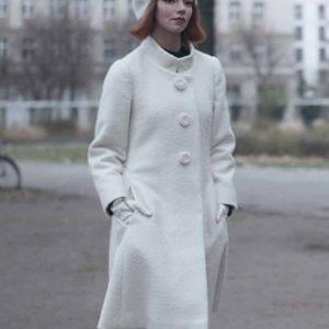 queens gambit white coat