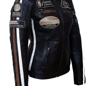 American Classic Urban Motors Black Leather Jacket